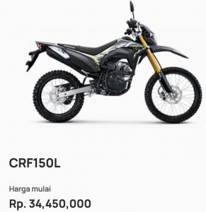 Harga Kredit Motor Honda CRF150L Garut
