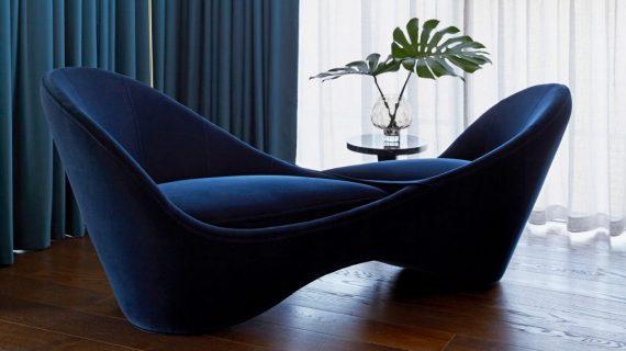Kursi empuk Möbius oleh Lauren Colquhoun untuk Bazaar