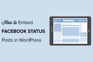 Cara Menyematkan Postingan Standing Fb di WordPress