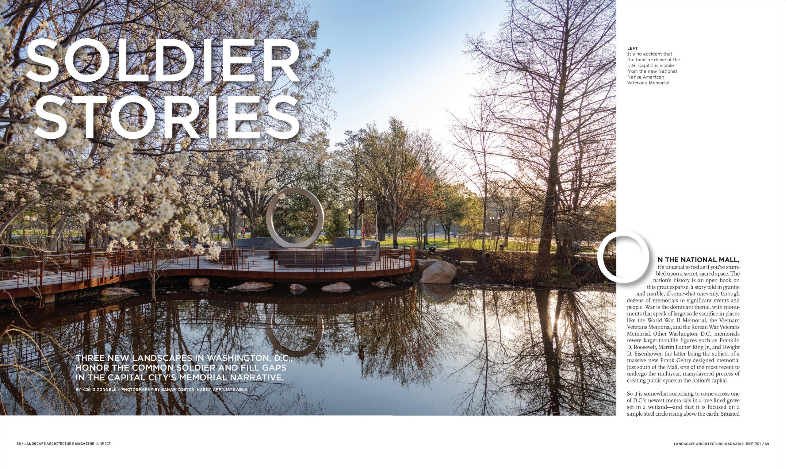 SOLDIER STORIES | Landscape Architecture Magazine