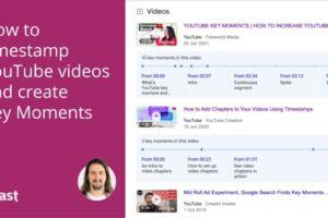 Cara memberi stempel waktu pada video YouTube dan membuat Momen Penting • Yoast